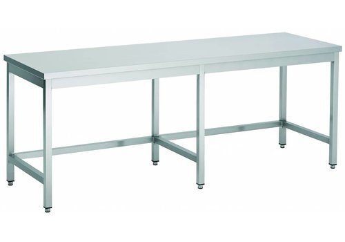 Combisteel Stainless Steel Work Table With Open Frame 60 cm Deep - 4 formats