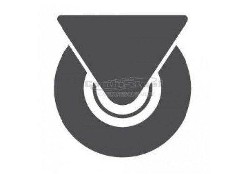 Combisteel Lenkrollen 4 Stück (2 gehemmt, ungehemmt 2)
