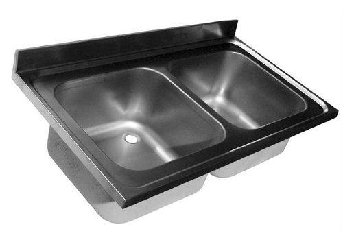 HorecaTraders Spülen Sie Tabletop | 2 Waschbecken | 4-Formate