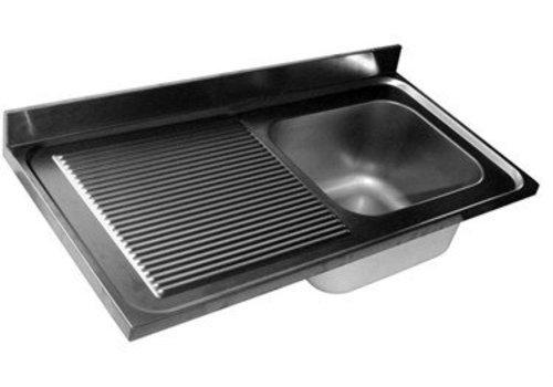 HorecaTraders Sink Bald | 1 Waschbecken rechts | 4 Formate