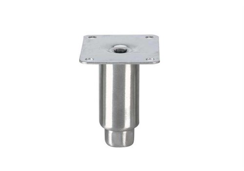 HorecaTraders Stainless steel adjustable legs topline | 100 x Ø41 mm