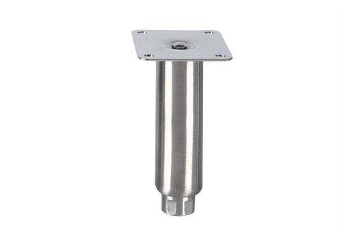 HorecaTraders Stainless steel adjustable legs topline | 150 x Ø41 mm