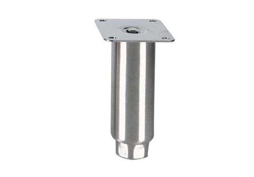 HorecaTraders Stainless steel adjustable legs topline | 150 x Ø50 mm