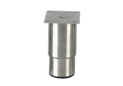 HorecaTraders Stainless steel adjustable legs ink | 145 x 100 x 80 mm