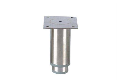 HorecaTraders Stainless steel adjustable legs ink | 125 x 102 x 82 mm