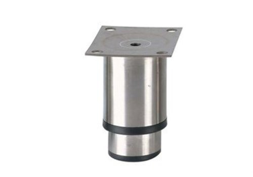 HorecaTraders Stainless steel adjustable legs horecaline | 90 x 100 x 80 mm