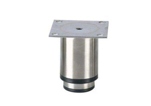 HorecaTraders Stainless steel adjustable legs horecaline | 90 x 90 x 90 mm