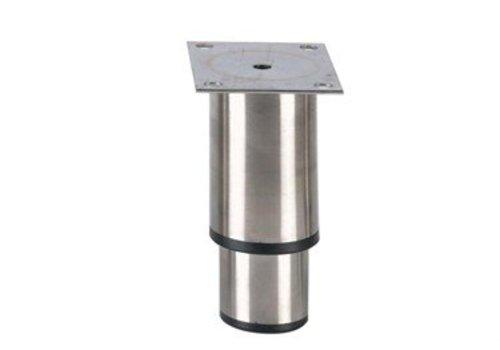 HorecaTraders Stainless steel adjustable legs hospitality line | 145 x 100 x 80 mm