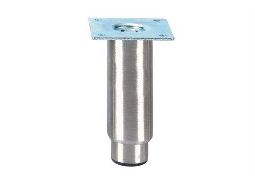 HorecaTraders Stainless steel adjustable legs ink | 150 x 89 x 89 mm