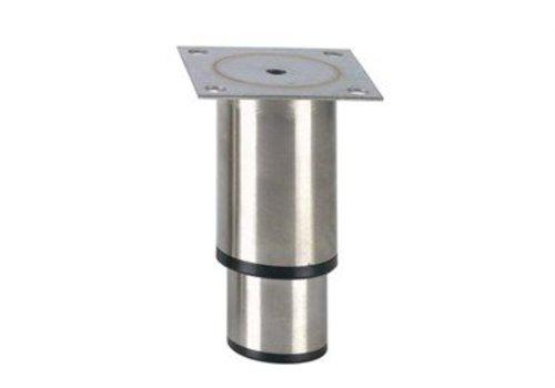 HorecaTraders Stainless steel adjustable legs hospitality line | 145 x 90 x 90 mm