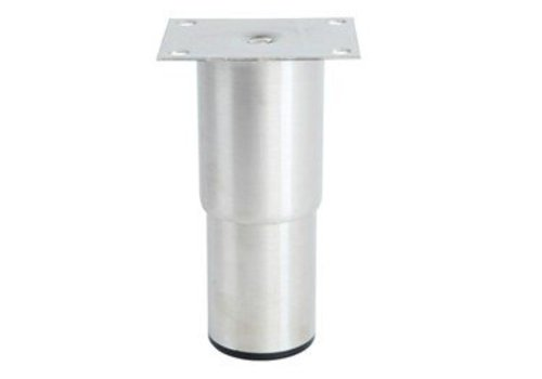 HorecaTraders Stainless steel adjustable legs hospitality line | 100 x 80 x 210 mm