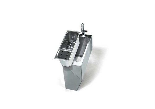 HorecaTraders Stainless Steel Casing - Includes Supply faucet with lever