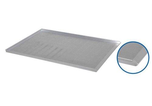 HorecaTraders Perforiertes Aluminiumbackblech - 78 x 58 x 2,3 cm