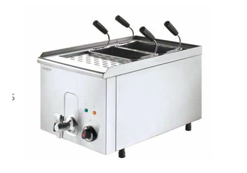 HorecaTraders Pasta Cooker including 4 baskets 400 V / 4.5 kW