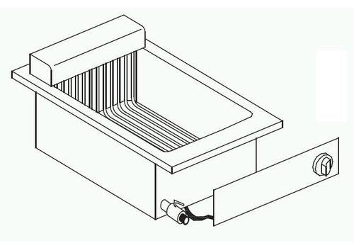 Combisteel Elektrische Friteuse Inbouw | 1 x 8 liter