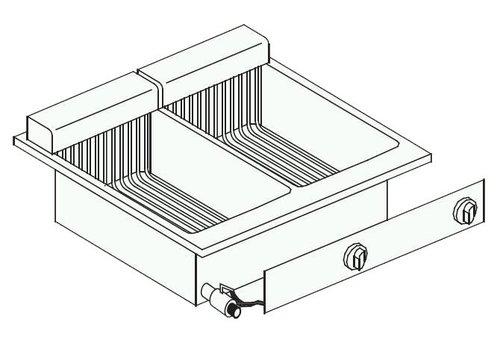 Combisteel Elektrische friteuse inbouw | 2 x 8 liter