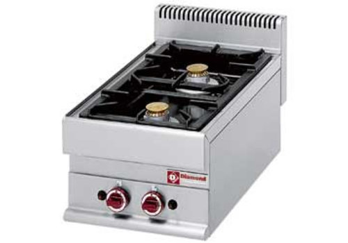 Diamond Fitted Gas Stove | 2 burners
