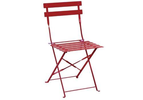 Bolero Stahlstühle Rot | 2 Stück