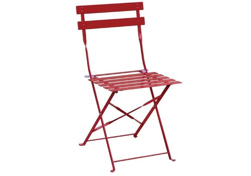 Bolero Steel Chairs Red | 2 pieces