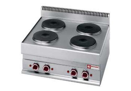 Diamond Inbouw Elektrisch fornuis 4 ronde kookplaten