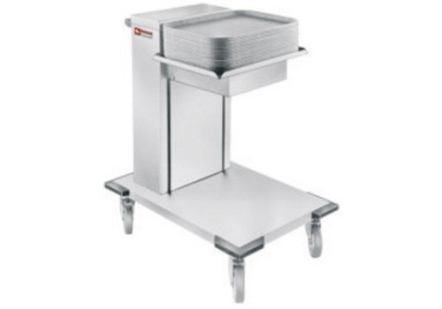 Diamond Restaurant Stacker Stacker Stainless Steel with Wheels