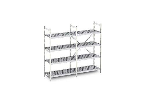 Hupfer Aluminum rack 60 cm deep 10 formats