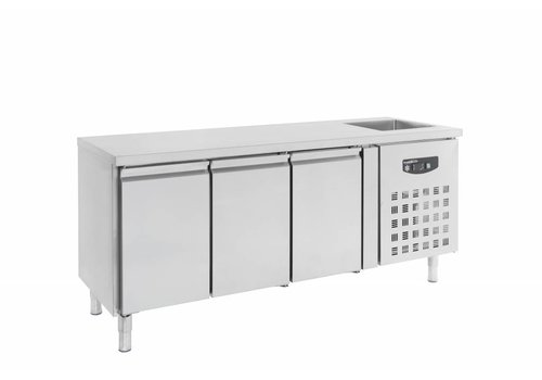 Combisteel Cooled workbench with sink | 202 x 70 x 96 cm
