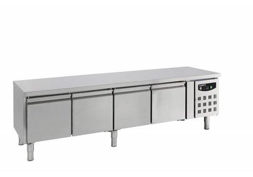 Combisteel Cold workbench stainless steel 4 doors - 4 X 1/1 GN | 223 x 70 x 65 cm
