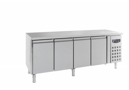 Combisteel Cool workbench 4 doors Stainless steel | 223 x 60 x 86 cm