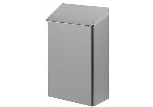 HorecaTraders Stainless steel Dustbin with lid Hufterproof | 7 L