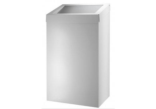 HorecaTraders Abfallbehälter 50 Liter | Weiß | 69 (H) x 39 (B) x 25 (T)