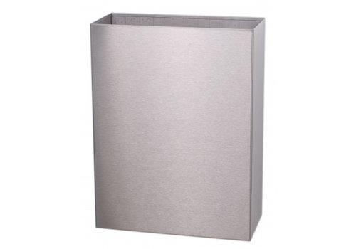 HorecaTraders Stainless Steel Waste Bin Open Model | 25 L