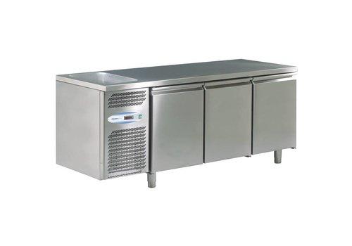 HorecaTraders 3-door cooling-sink with sink left 178x70x85 cm