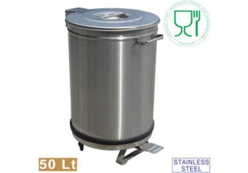 Diamond Stainless steel watertight garbage bin ø39xh61.5 cm