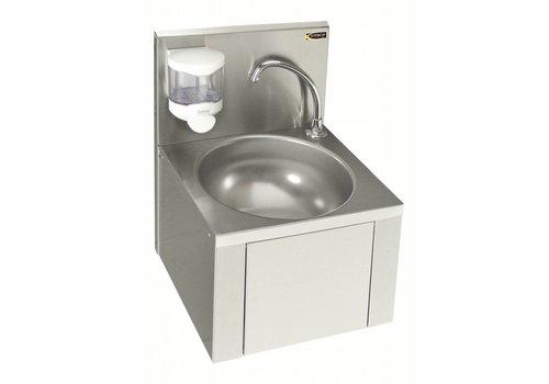 Sofinor Washbasin With Knee & Soap Dispenser | Stainless steel