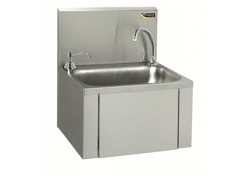 Sofinor Rvs Washbasin Kneeling & Soap Dispenser