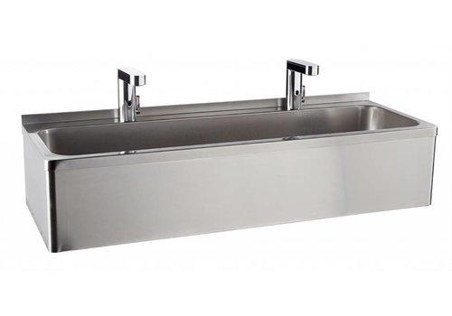 Sofinor Stainless Steel Washbasin | 2 Electronic Cranes