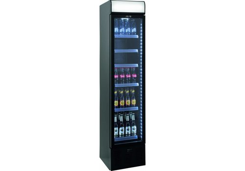 Saro Narrow Bottle Fridge with Glass Door 40 cm wide