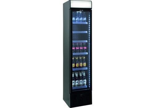 Saro Schmale Flasche Kühlschrank mit Glastür 40 cm breit