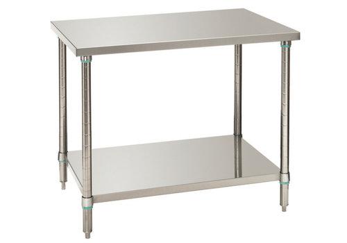Bartscher Work tables with underside 100x70x86-90 cm