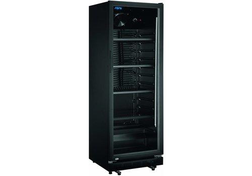 Saro Kühlschrank Schwarz mit Glastür 360L