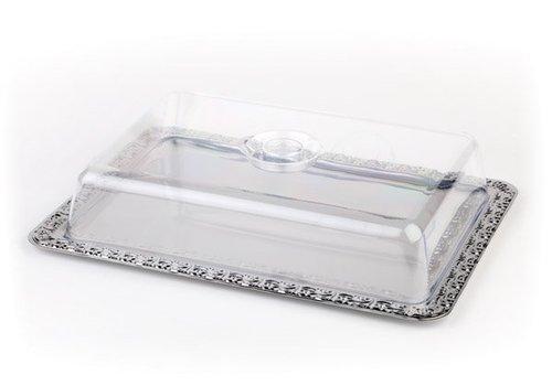 APS Luxus Edelstahl Servierplatte | Melamin