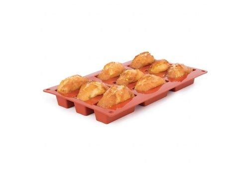 HorecaTraders Forma Flex Silikon-Kuchenform | 9 Mini-Kuchen