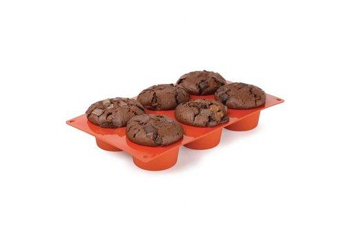 HorecaTraders Patisserievorm | 6 Muffins