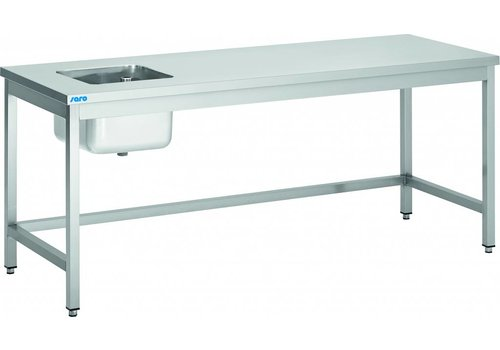 Saro Stainless Steel Washbasin With Sink Left | 6 formats