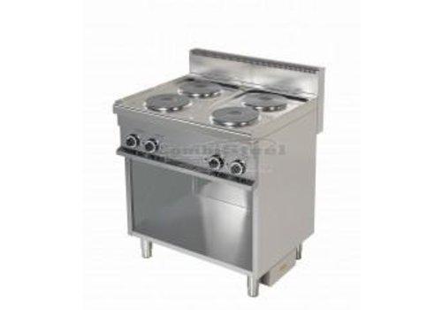Combisteel Elektrische Kookplaat | 4 elementen