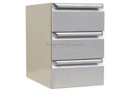 Combisteel Stainless steel chest of drawers | 40 x 63 x 59 cm