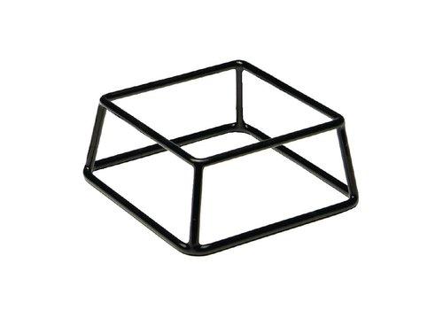 HorecaTraders Buffet Stand Black | 18 x 18 x 8 cm