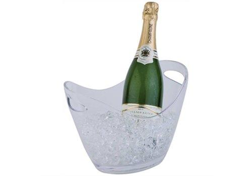 HorecaTraders Champagne Schüssel helle kleine