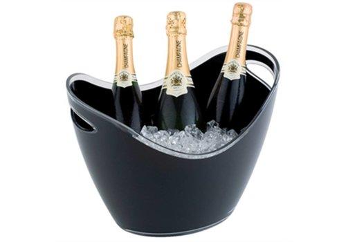 HorecaTraders Champagne bowl zwart groot